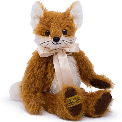 Britannnical London Merrythought Soft Toy Freddy Fox Luxury Children's toys kids toys luxury gifts for children children's gifts made in britain