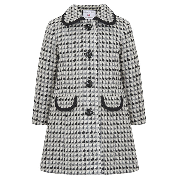 Kensington Girls Gallery Coat - Special Edition - Carnaby Monochrome