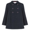 Boy's double breasted coat navy blue wool Pimlico style by Britannical luxury children's coats luxury kids coats luxury children's clothing made in Britain