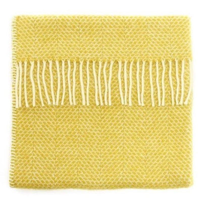 Britannical luxury baby blanket pram blanket yellow wool gifts for baby gifts for babies made in Britain