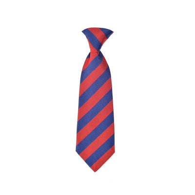 Children's neck tie red blue stripes silk by Britannical luxury children's coats luxury kids coats luxury children's accessories made in britain