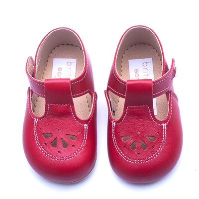 Britannical x Early Days Pre-Walker Baby Shoes red leather kids baby boy shoes baby girl shoes made in britain