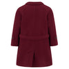 Girl's coat burgundy wool reefer coat Clerkenwell style by Britannical luxury children's coats luxury kids coats luxury children's clothing made in Britain
