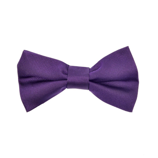 Child's bow tie silk purple by Britannical luxury children's clothing made in Britain