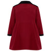 The Sandringham Girls Dress Coat - Gainsborough Red