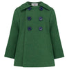 Boy's coat green wool Pimlico style by Britannical luxury children's clothing made in Britain