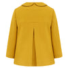 Girl's pea coat mustard yellow gold wool Fitzrovia by Britannical luxury children's clothing made in Britain