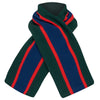 Child's scarf college wrap red green blue wool by Britannical luxury children's clothing made in Britain