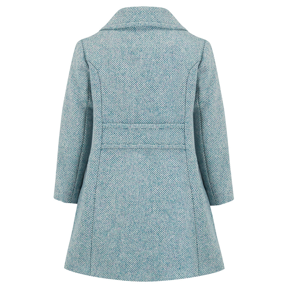 light blue wool coat