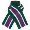 Child's scarf college wrap suffragette purple white green wool by Britannical luxury children's clothing made in Britain