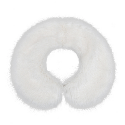Girls faux fur collar white Knightsbridge style by Britannical luxury children's coats luxury children's accessories luxury children's clothing made in britain
