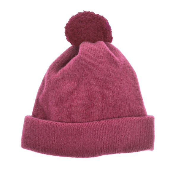 Girl's bobble hate pink wool by Britannical luxury children's clothing made in Britain