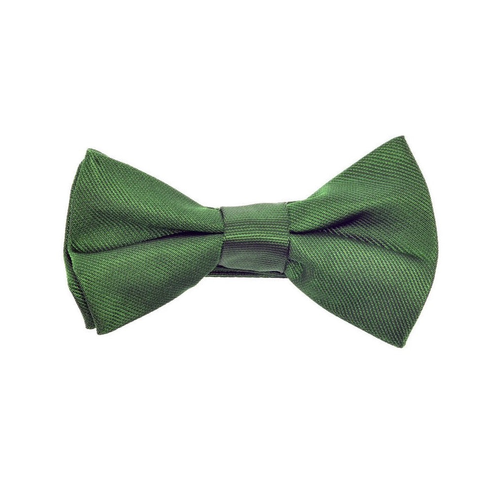 THE GREAT BRITISH BABY COMPANY CHILD'S BOWTIE SILK GREEN. LUXURY BRITISH CHILDREN'S CLOTHING