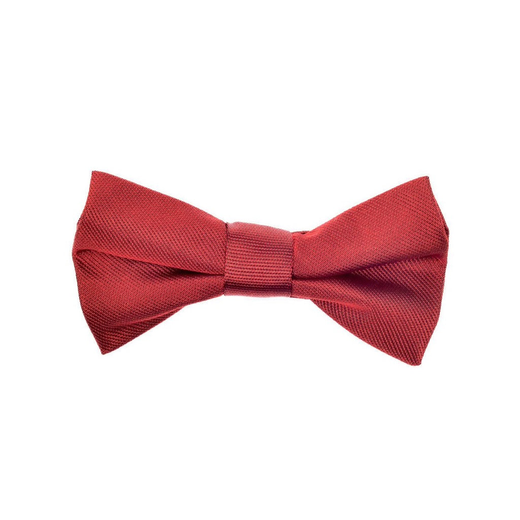 THE GREAT BRITISH BABY COMPANY CHILD'S BOWTIE SILK RED. LUXURY CHILDREN'S CLOTHING BRITISH MADE IN BRITAIN