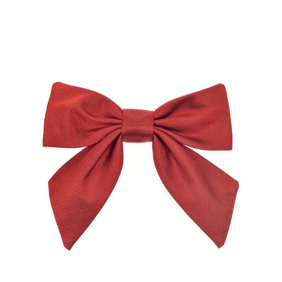Girls bow bow tie red silk by Britannical luxury children's coats luxury kids coats luxury children's accessories made in britain