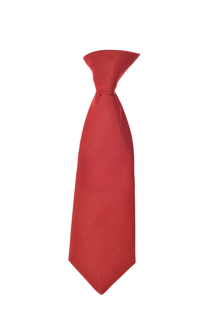 Child's neck tie silk red by Britannical luxury children's clothing made in Britain