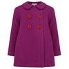 Girl's pea coat pink magenta wool Bloomsbury by Britannical luxury children's clothing made in Britain