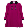 Girl's dress coat pink wool Sandringham style by Britannical luxury children's clothing made in Britain
