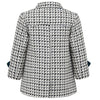 Boy's coat double breasted grey white black monochrome wool Marylebone style  by Britannical luxury children's clothing made in Britain