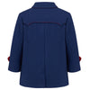 Boys coat double breasted navy blue red monochrome wool Marylebone style  by Britannical luxury children's clothing made in Britain