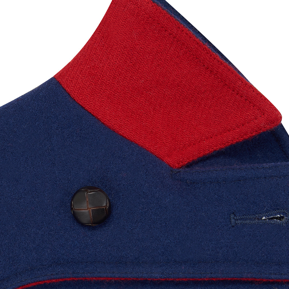 Marylebone Boys Pea Coat - Portland Blue