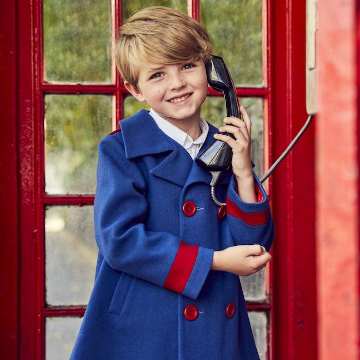 Britannical luxury childrens coat boys coats made in britain