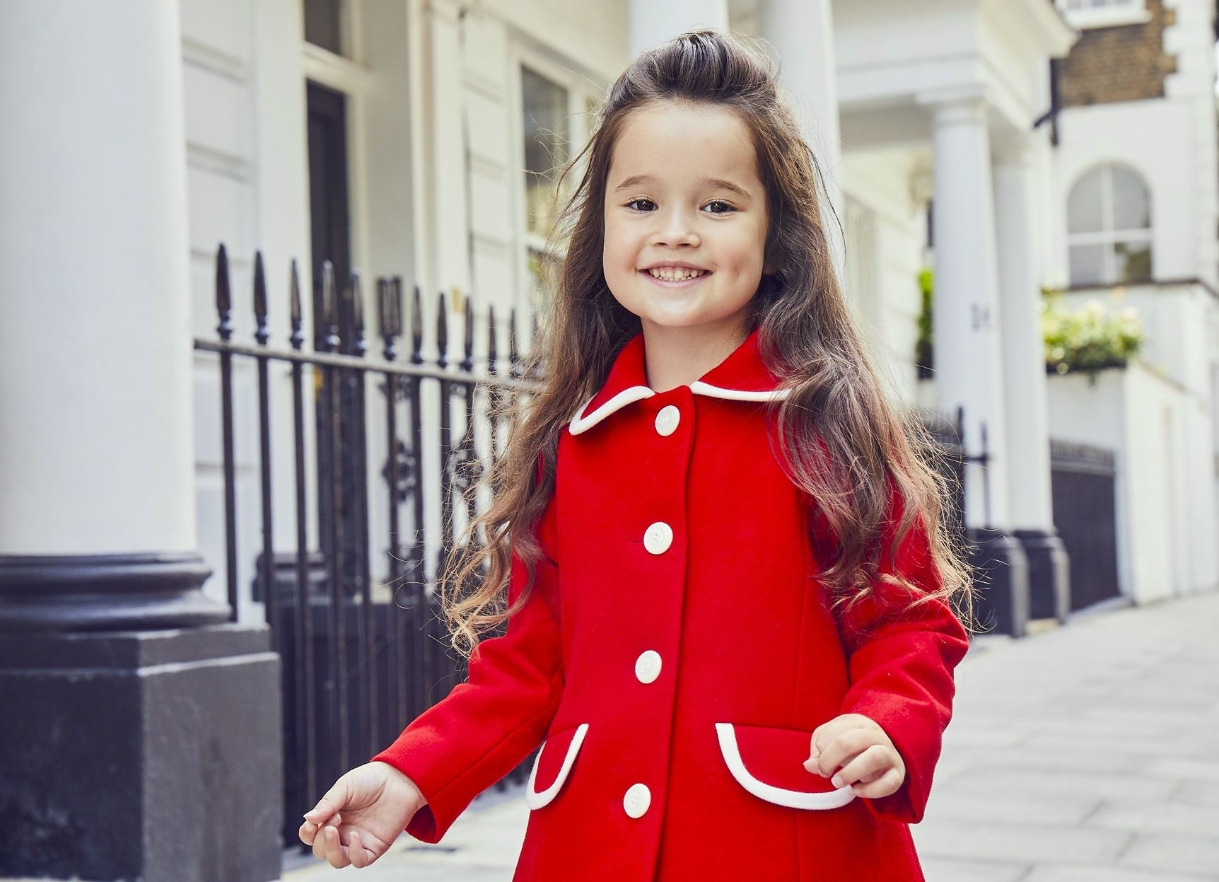 Britannical luxury childrens coat girls coats  made in britain