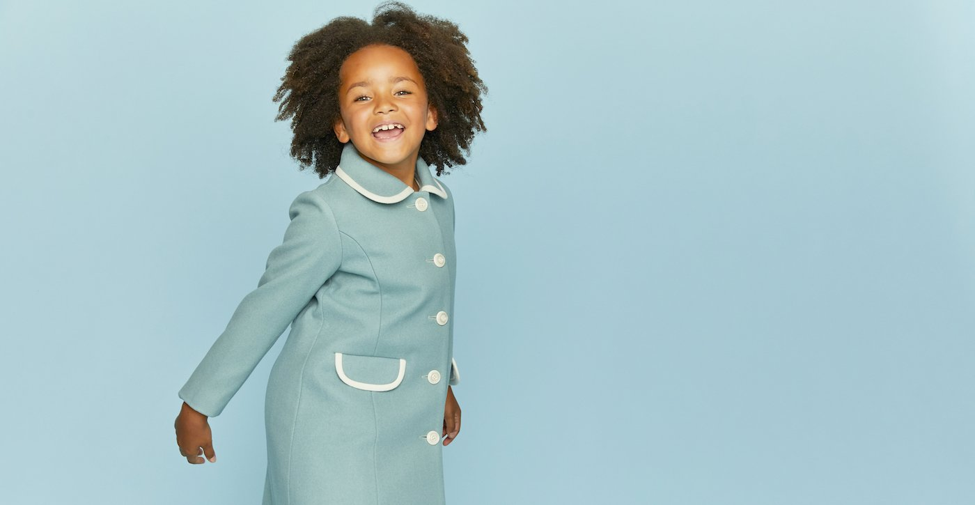 Britannical Luxury children's clothing girls coats made in britain