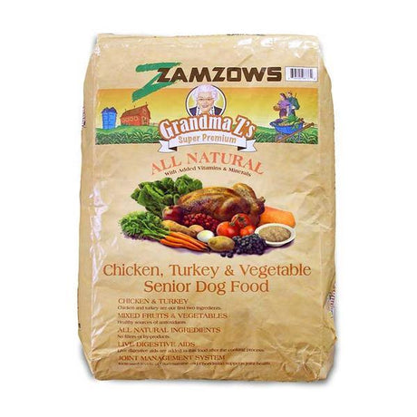 Grandma Z's Chicken And Vegetable Senior Dog Food 35 LB