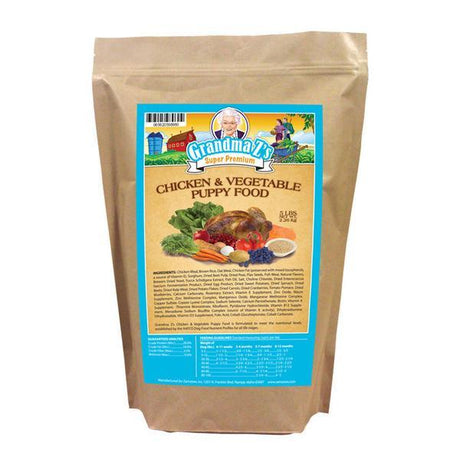 Grandma Z's Chicken And Vegetable Puppy Food 5 LB