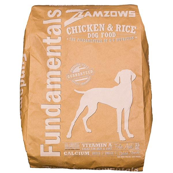 Zamzows Fundamentals Chicken And Rice Dog Food 35 LB