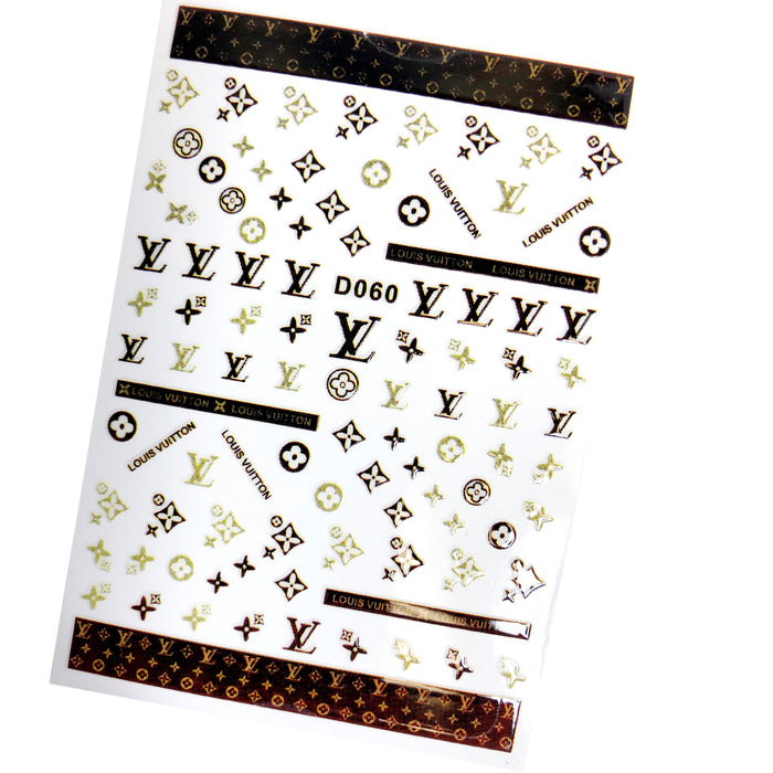 Brand Name Nail Sticker LV - 11 Colors