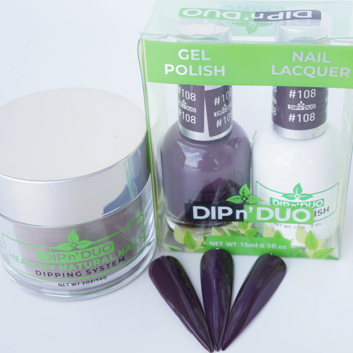 DIP n' DUO Healthy Natural Nails Dipping System ( 4-IN-1 Matching 91-120)
