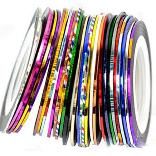 30PCS Mixed Colors Rolls Striping Tape