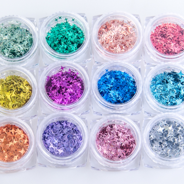 Fancy Glitter ( Star-Heart-Twinkle)  12 colors