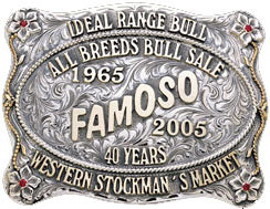 Famoso custom belt buckle