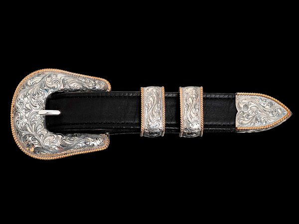 "Vogt Silversmiths 1"" Western Buckles The Forty Niner"