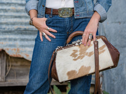 Vogt Silversmiths Antique Bags The Calf Hide Cowgirl