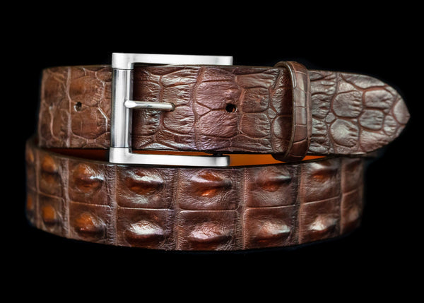 Vogt Silversmiths Belts NEW! Horn Back Saltwater Croc