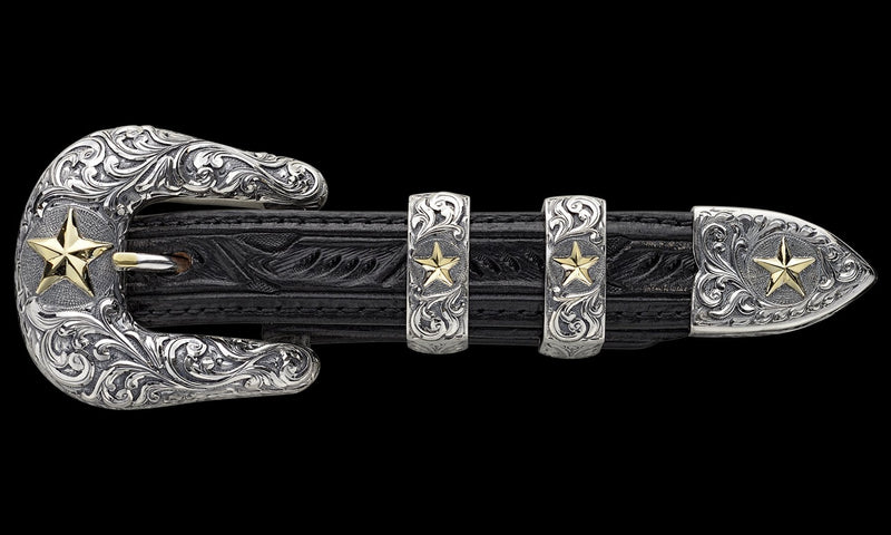 Vogt Silversmiths Chet Vogt Signature Series Buckles Default The Chet Vogt Dunlap Buckle Set (Made to Order)