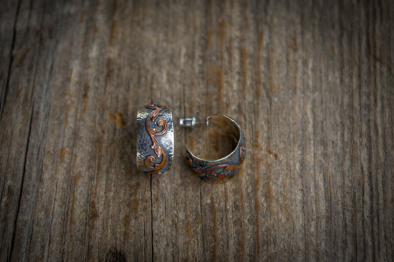 Vogt Silversmiths Earrings NEW! The Autumn Sun Hoops