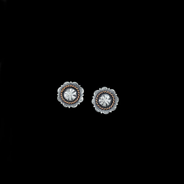 Vogt Silversmiths Earrings The Calico Copper Conchos