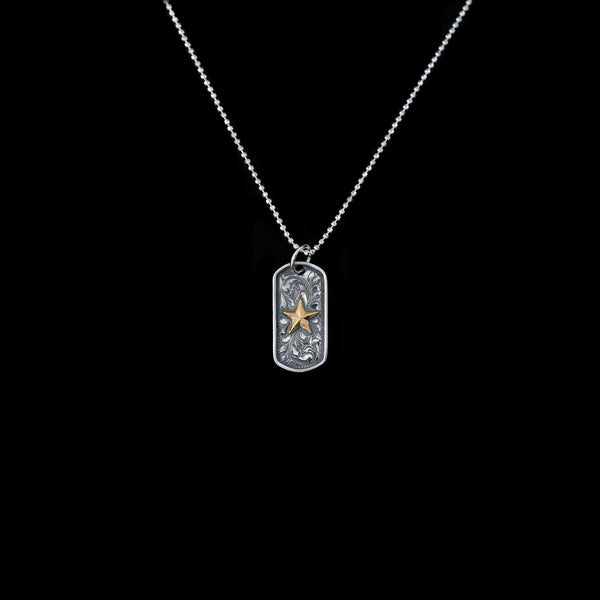 Vogt Silversmiths FINAL SALE SILVER The Hero Dog Tag Pendant 016-141