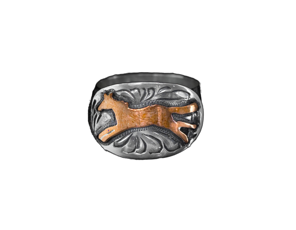 Vogt Silversmiths FINAL SALE SILVER The Running Pony Ring 027-040