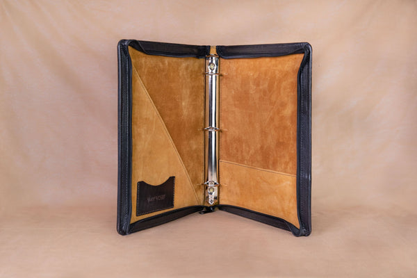 Vogt Silversmiths Leather Binders Black Leather Binder