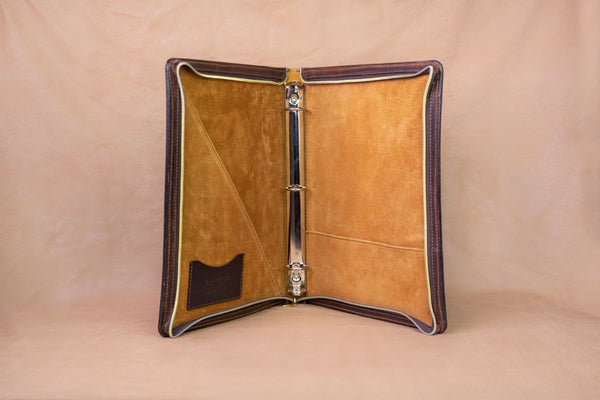 Vogt Silversmiths Leather Binders Pull-Up Bison Leather Binder