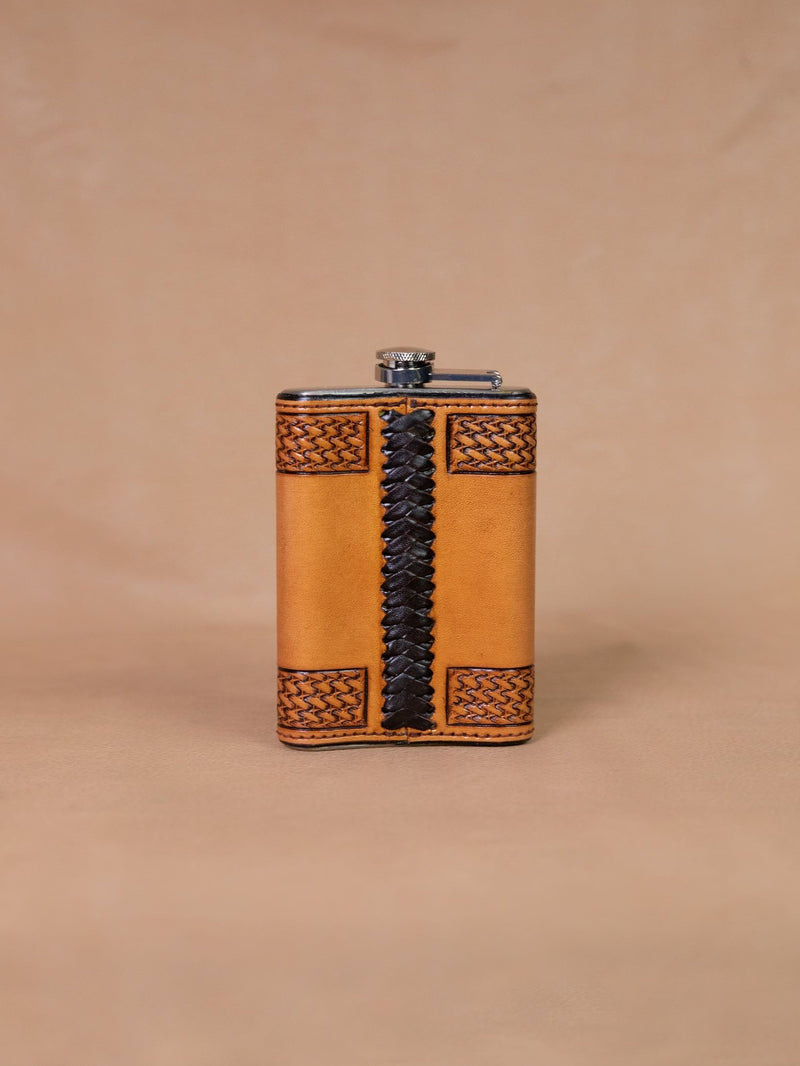 Vogt Silversmiths Leather Flask 046-5001