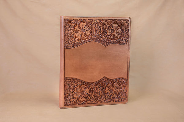 Vogt Silversmiths Leather Folders Russet Tooled Folder
