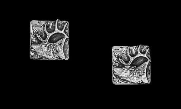 Vogt Silversmiths Outdoors Collection The Call of the Elk Cufflink 128-634