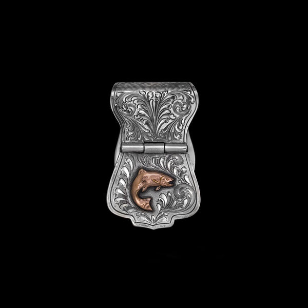 Vogt Silversmiths Outdoorsmen Money Clips The Rose Gold River Trout